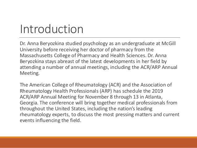 Acr 2019 Rheumatology