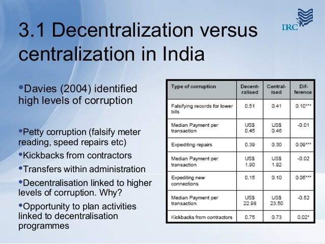 Essay on Decentralized Planning In the Indian Polity