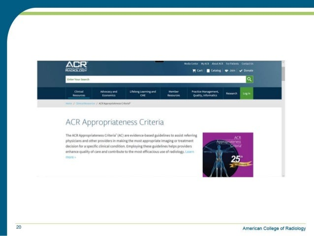 radiology appropriateness criteria american college of radiology a
