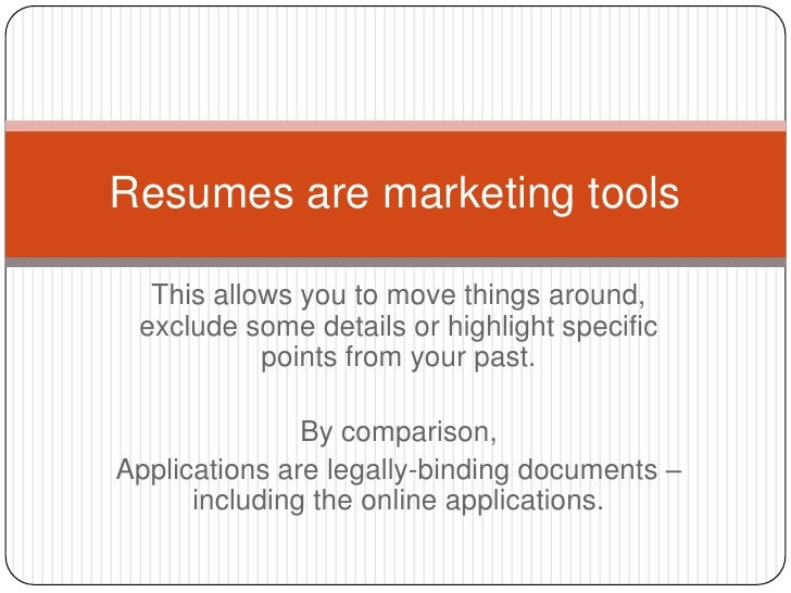a crash course in resumes