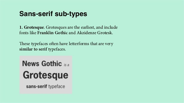A crash course in typography