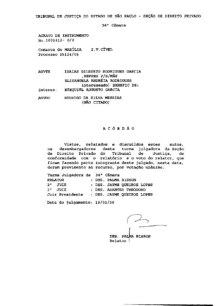 """TRIBUNAL DE JUSTIÇA DO ESTADO DE SAO PAULO - SEÇÃO DE DIREITO PRIVADO                                36"""" Câmara   AGRAVO D..."""
