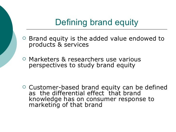 Brand equity definition ppt to pdf