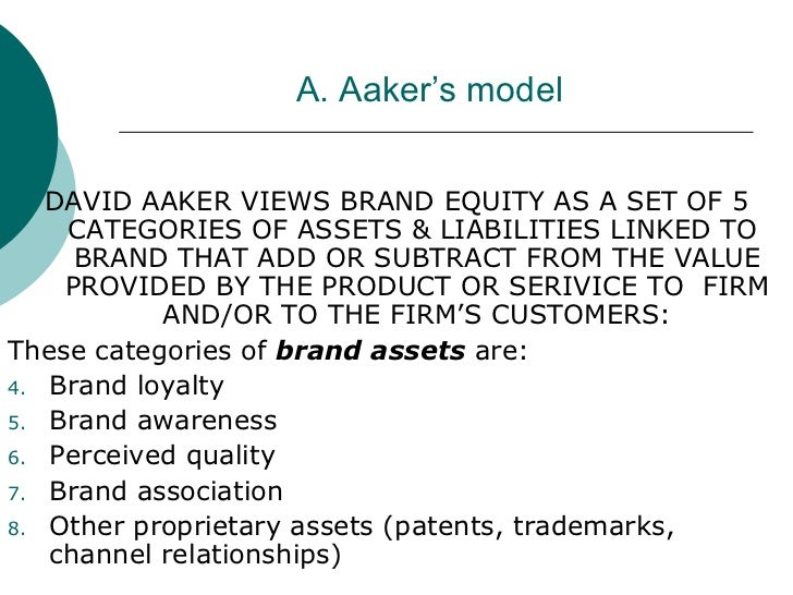 david a aaker brand equity model