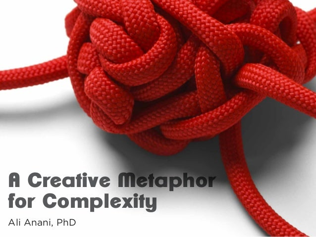 A Creative Metaphor for Complexity Ali Anani, PhD