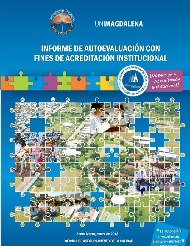 Universidad del MagdalenaInforme de Autoevaluación con fines de Acreditación Institucional 1