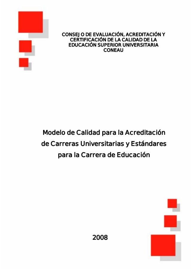 CONSEJO DE EVALUACIÓN, ACREDITACIÓN Y         CERTIFICACIÓN DE LA CALIDAD DE LA        EDUCACIÓN SUPERIOR UNIVERSITARIA   ...