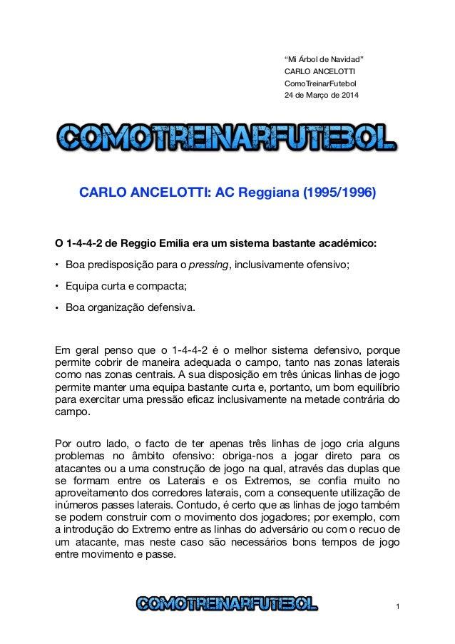 """""""Mi Árbol de Navidad"""" CARLO ANCELOTTI ComoTreinarFutebol 24 de Março de 2014 ! ! ! CARLO ANCELOTTI: AC Reggiana (1995/1996..."""