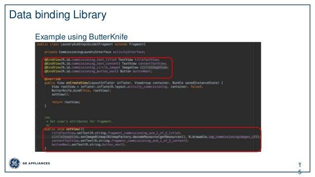 15 1 5 Data binding Library Example using ButterKnife