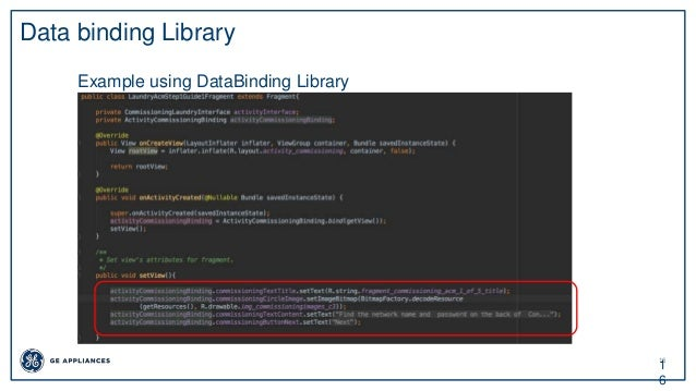 16 1 6 Data binding Library Example using DataBinding Library
