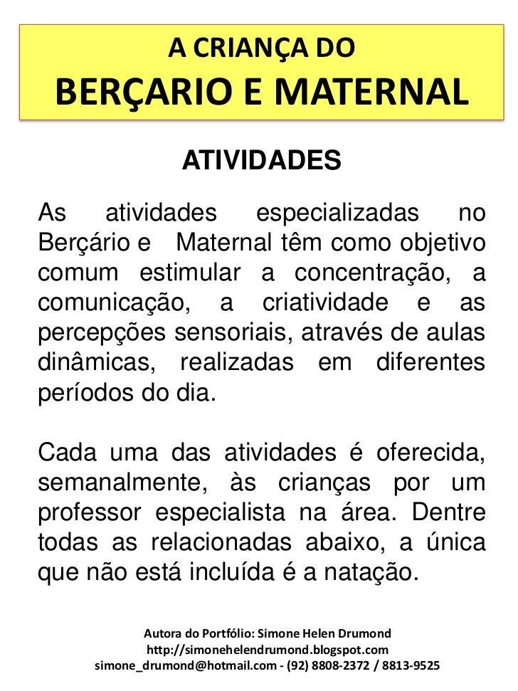 Excepcional A criança do berçario e maternal 50 atividades WY22
