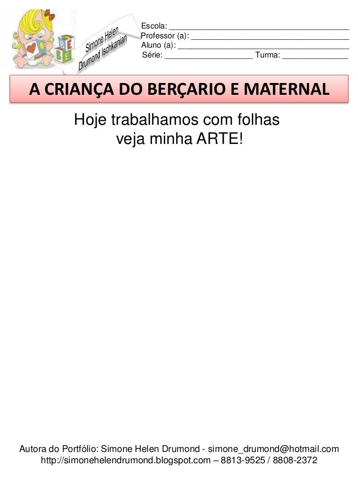 Well-known A criança do berçario e maternal 50 atividades GY38