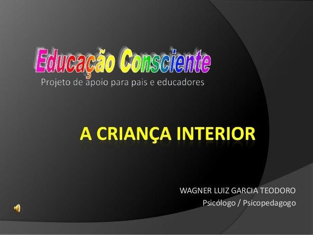 WAGNER LUIZ GARCIA TEODORO Psicólogo / Psicopedagogo
