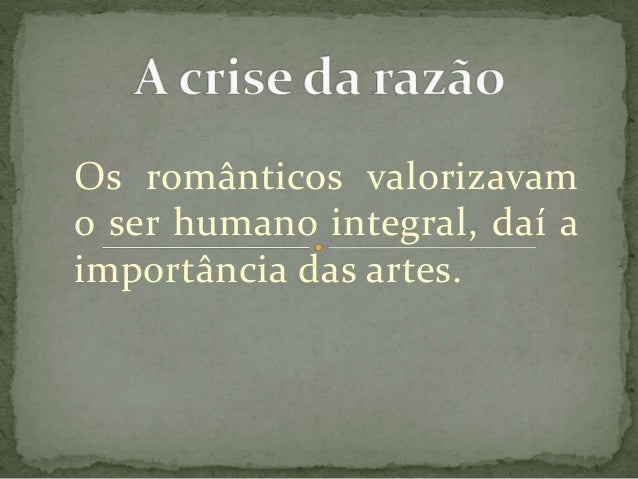 A crise da razão Slide 3