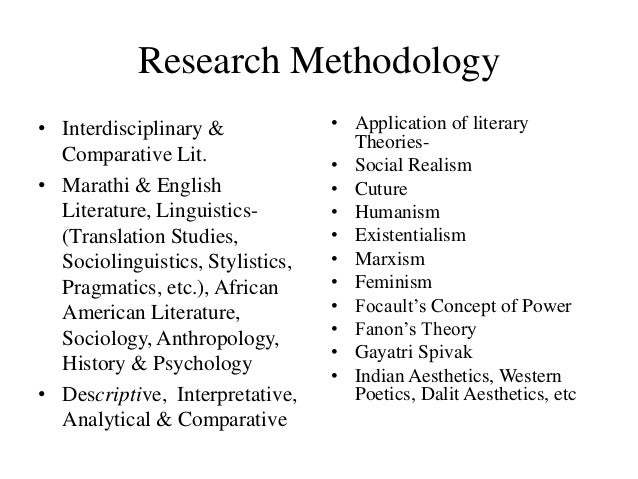 research methodology in english literature