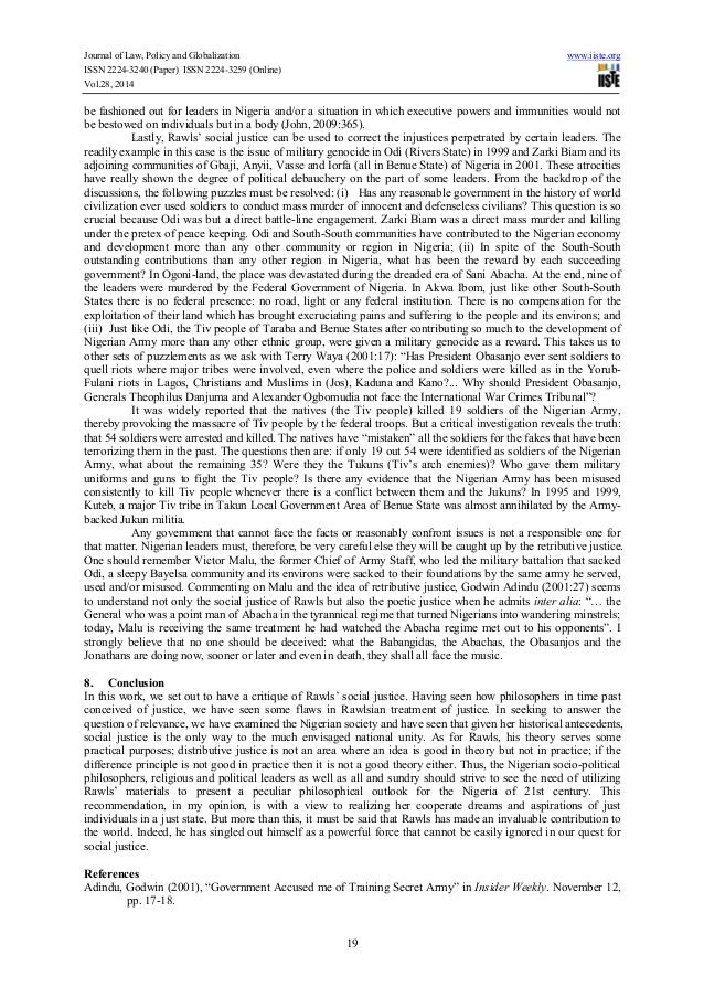 john rawls theory of justice essay A theory of justice essay topics & writing assignments john rawls this set of lesson plans consists of approximately 113 pages of tests, essay questions, lessons, and other teaching materials buy and print the a theory of justice lesson plans print · buy and download the a theory of justice lesson plans word · buy.