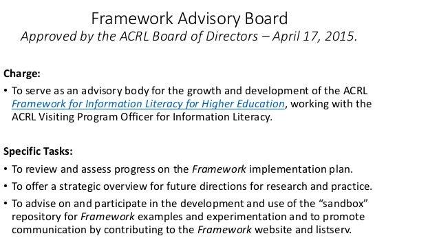 Turning inward: Reading the Framework ... - crln.acrl.org
