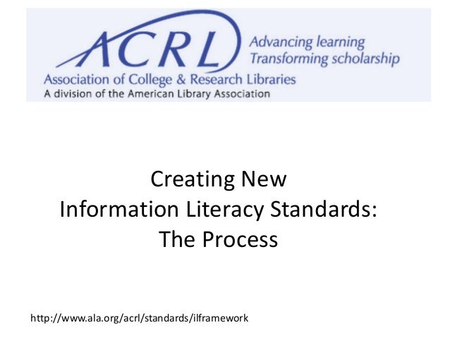 ACRL'S FRAMEWORK FOR INFORMATION LITERACY FOR HIGHER …