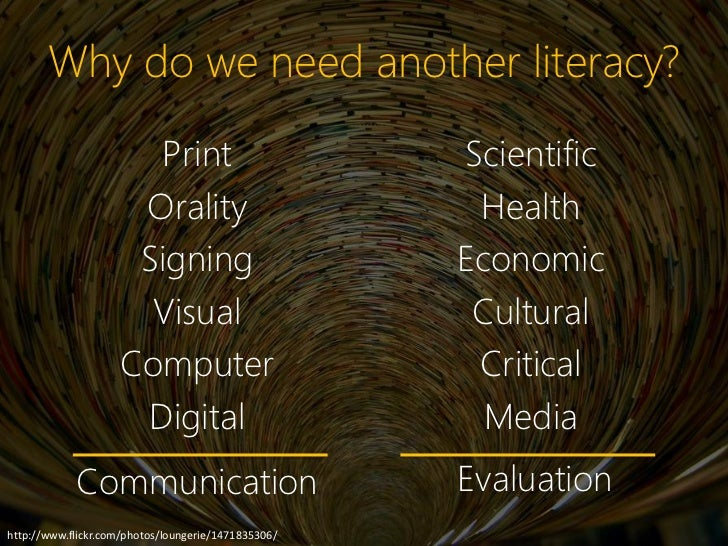 Why do we need another literacy?                      Print                          Scientific                     Oralit...