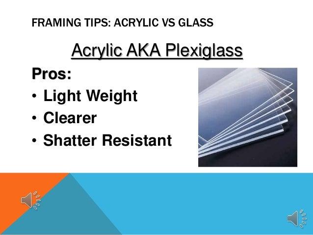 Acrylic Vs Glass Custom Framing Tips