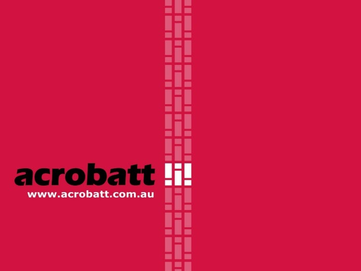 about us Acrobatt is a specialist sport and entertainment marketing agency. That means we have an unrivalled understanding...