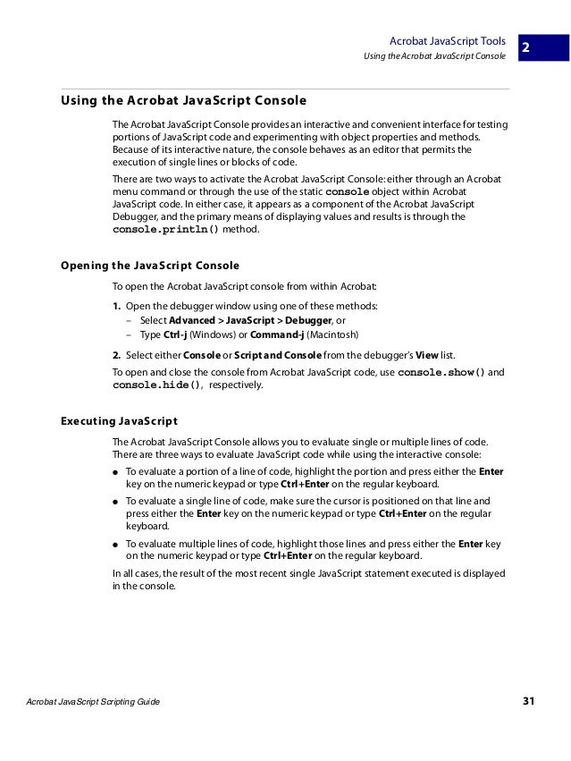 acrobat pdf javascript debugger how to set breakpoint
