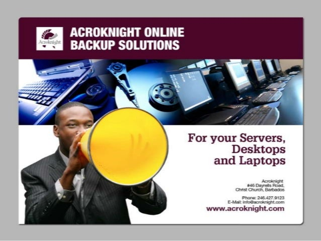 Agenda – What are we saying? 1. 2. 3. 4. 5. 6. 7.  Why should you Backup? Leading Reasons for Data Loss So what's is this ...