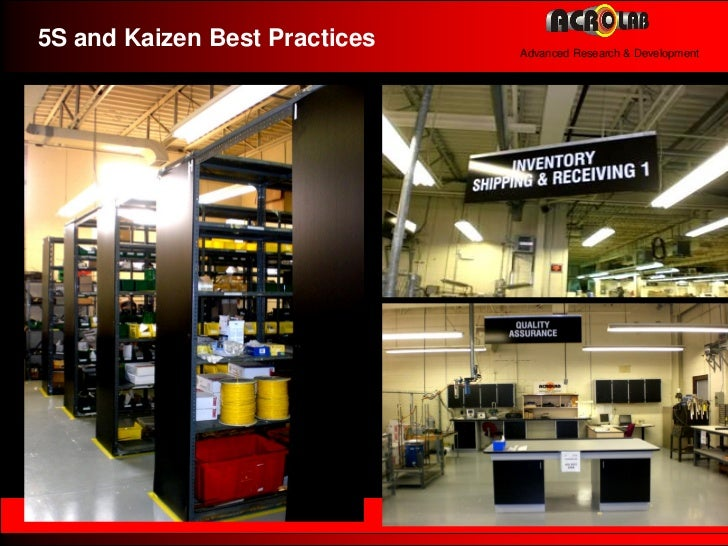 5s Kaizen Kanban And Best Quality Practices At Acrolab R