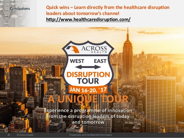 ProprietaryandConfiden/alInforma/on©AcrossHealth29 Conclusions Quickwins–Learndirectlyfromthehealthcared...