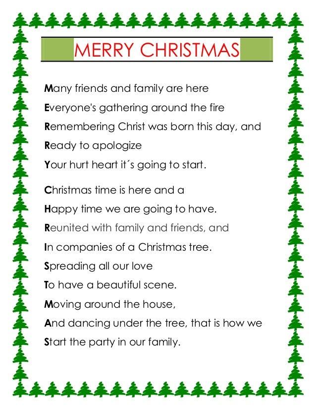 Merry Christmas Acrostic