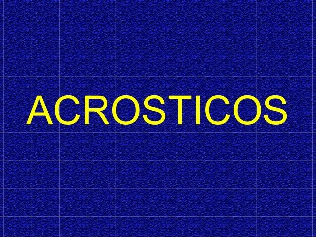 ACROSTICOS