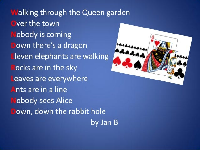 Knitting Rhyme In Through The Bunny Hole : Acrostic poems