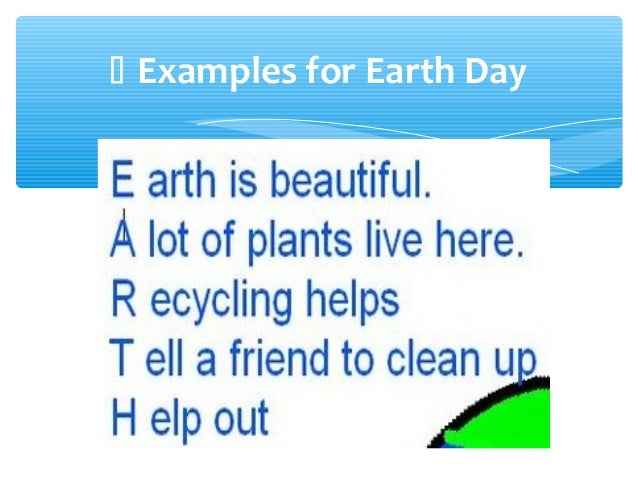 earth day poems for kids - photo #34