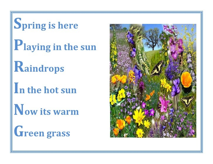 Acrostic Spring Poetry