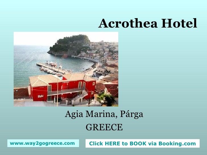 Acrothea Hotel Agia Marina, Párga GREECE