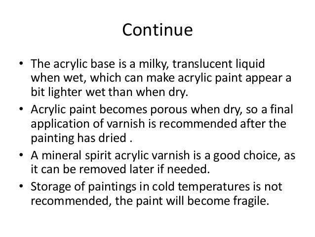 Acrylic enamel paints