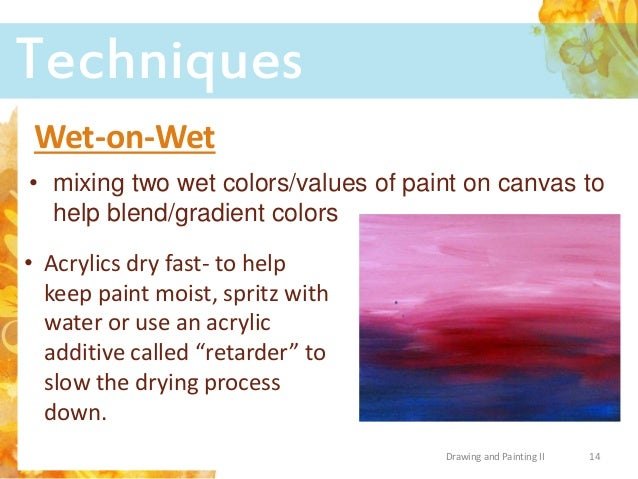 Acrylic paint tools tips and techniques for How to paint with acrylic colors