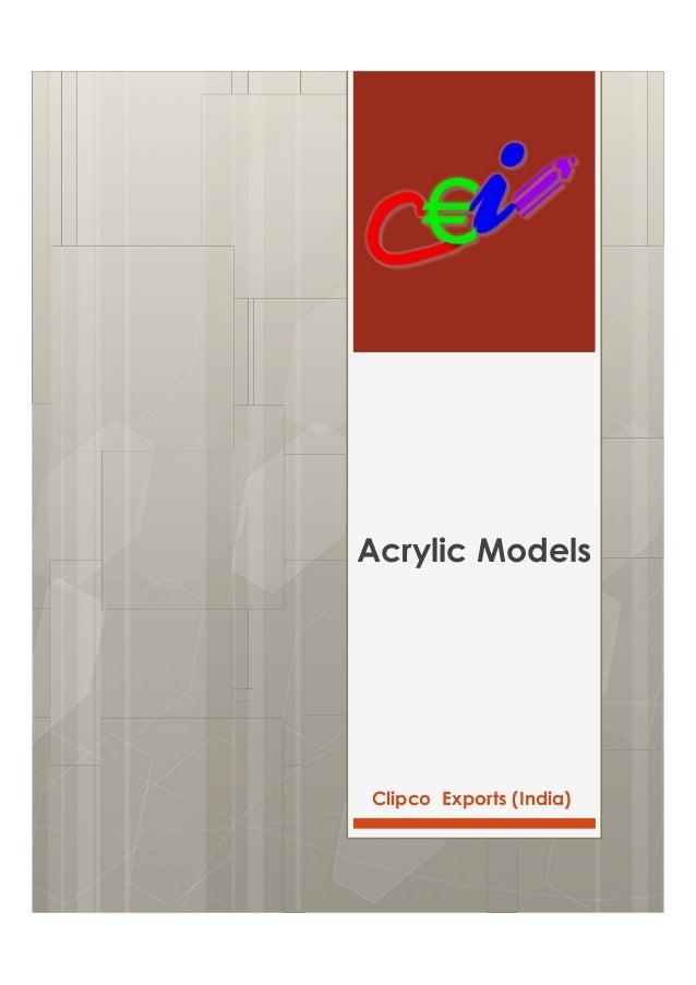 Clipco Exports (India) Acrylic Models
