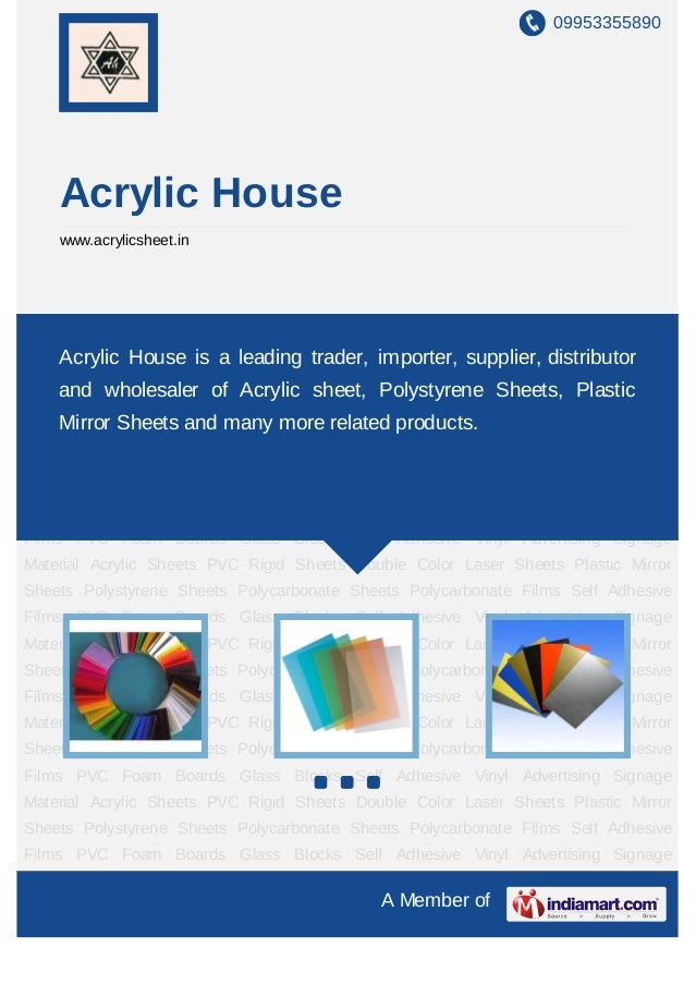 09953355890     Acrylic House     www.acrylicsheet.inAcrylic   Sheets   PVC     Rigid   Sheets   Double   Color   Laser   ...