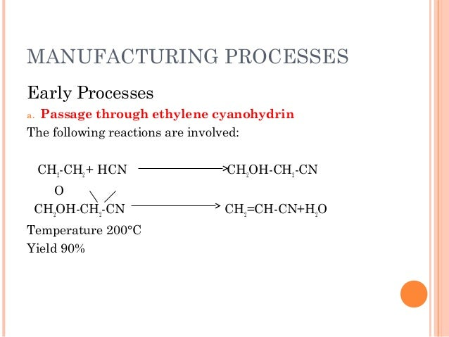Production of acrylonitrile from the ammoxidation of propylene for Design of oxidation pond ppt