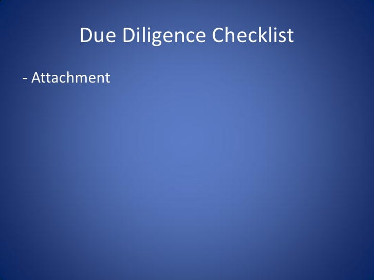 acs due diligence presentation  ryan goral