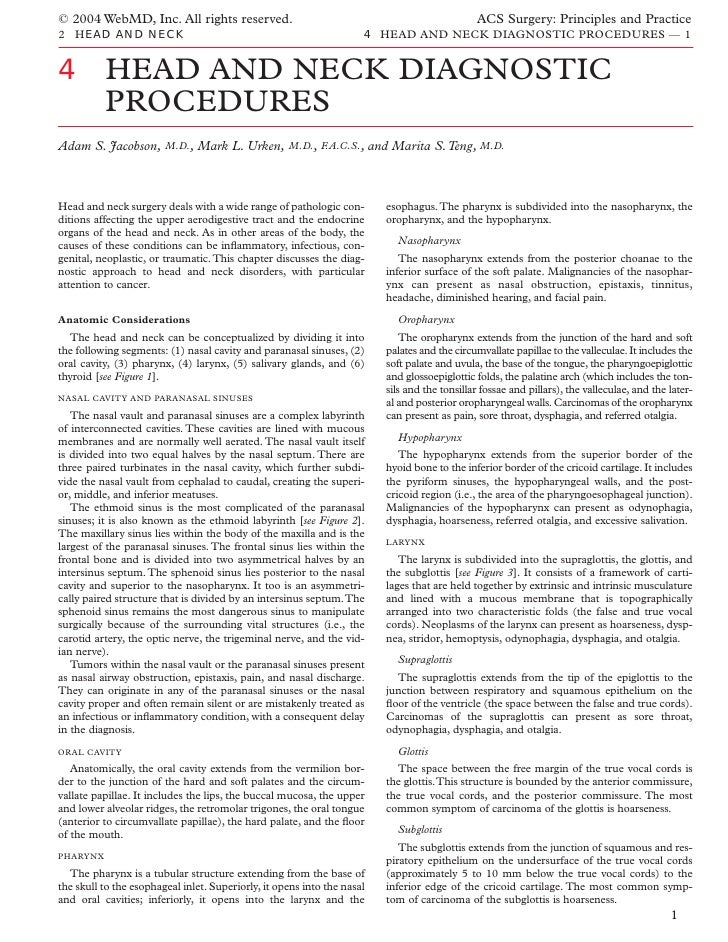 © 2004 WebMD, Inc. All rights reserved.                                                       ACS Surgery: Principles and ...
