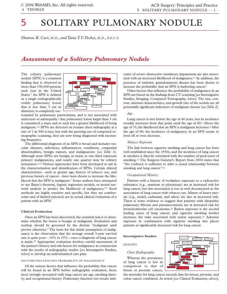 Acs0405 Solitary Pulmonary Nodule