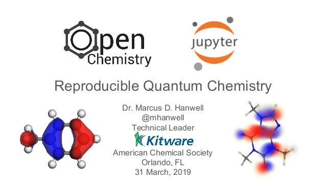 Open Chemistry, JupyterLab and data: Reproducible quantum