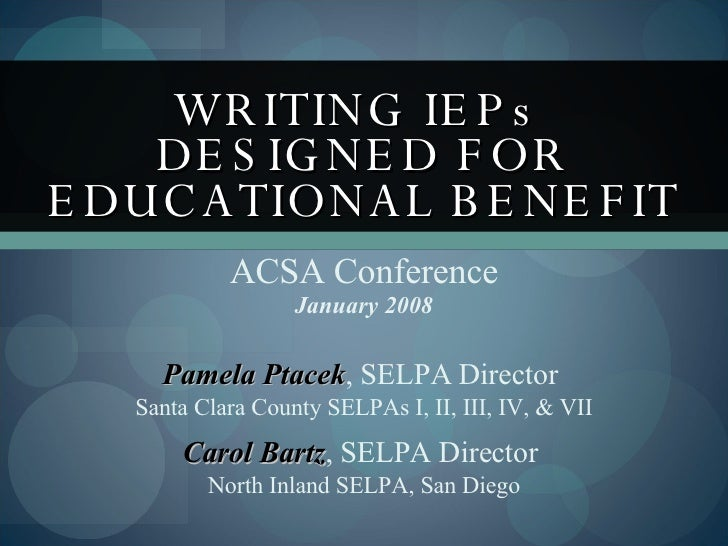 essay on an iep Special education essays this article deals with the topic of special education and the things that are associated with special education the main qualification of a special education.