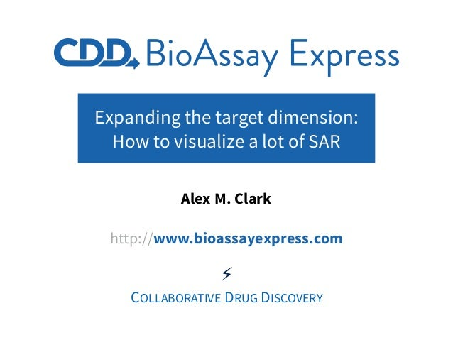 Expanding the target dimension: How to visualize a lot of SAR Alex M. Clark http://www.bioassayexpress.com ⚡ COLLABORATIVE...