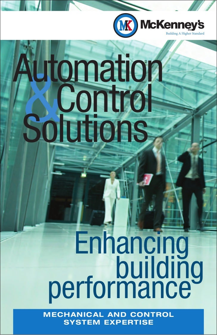 Automation&  Control Solutions    Enhancing        building  performance  M E C H AN IC AL AN D CO NTRO L        S YST EM ...