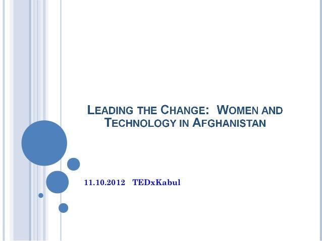 11.10.2012 TEDxKabul