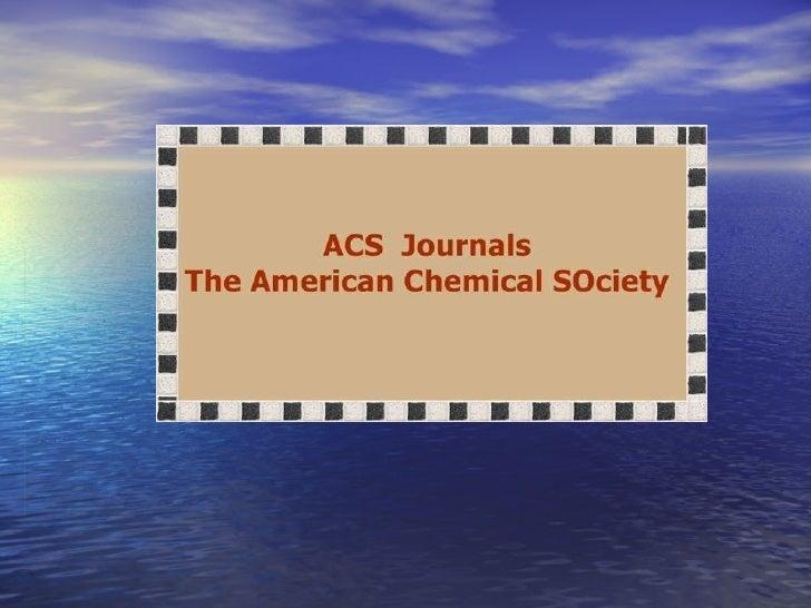 Acs Journals