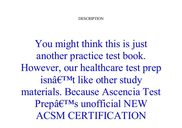 review epub acsm certification practice tests: personal training exam…
